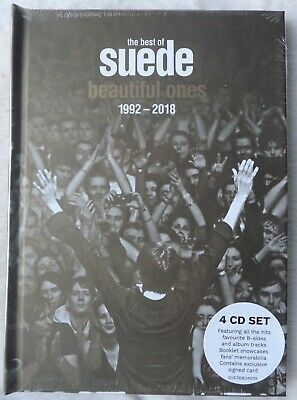 BEAUTIFUL ONES - THE BEST OF SUEDE 1992 - 2018 * SIGNED CARD * & 4 X CD SET • 42£