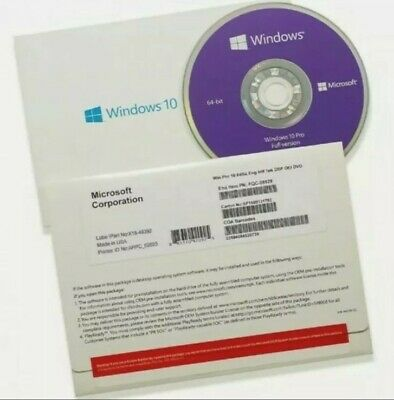 $ CDN88.75 • Buy Authentic Microsoft Windows 10 Professional 64bit Disc With Key  NEW, Sealed