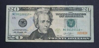 $40 • Buy $20 Twenty Dollar Star Bill 2013 Fancy Serial # Frn - Trinary - Low Sum - 0 1 2