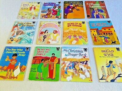 £21.29 • Buy CHILDRENS Arch Books~Lot 12~BIBLE STORIES~BREAD & WINE~LAME MAN~CALMS STORM~