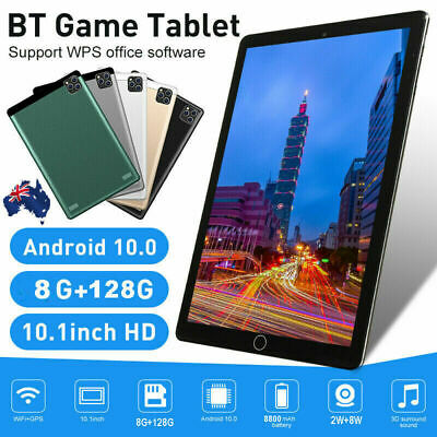 AU139.99 • Buy 10.1  Android10.0 8GB+128GB HD Tablet PC WiFi Bluetooth GPS Dual Camera Gifts