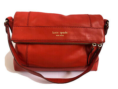 $ CDN100.94 • Buy Kate Spade Handbag Shoulderbag Leather Red Satchel Purse Tote