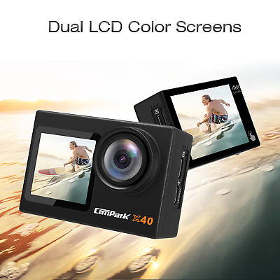 AU86.50 • Buy Campark X40 Action Camera 4K 20MP WiFi Action Camera EIS Dual Touch Screen GoPro