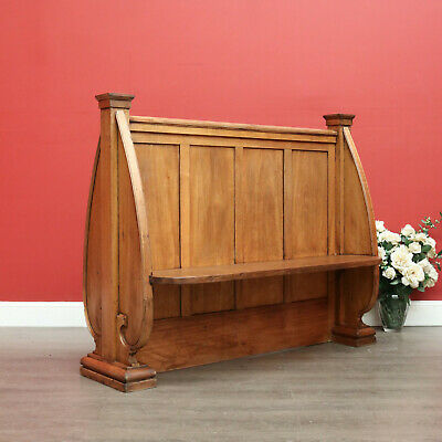 AU895 • Buy Antique Australian Church Pew, Antique Maple Double Sided Pew Hall Seat Bench