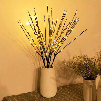 £5.51 • Buy LED Branch Twig Lights Light Up Willow Tree Branches Party Holiday Home Decor UK
