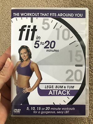 Fit In 5 To 20 Minutes - Legs Bum And Tum Attack (DVD, 2011) • 1.50£