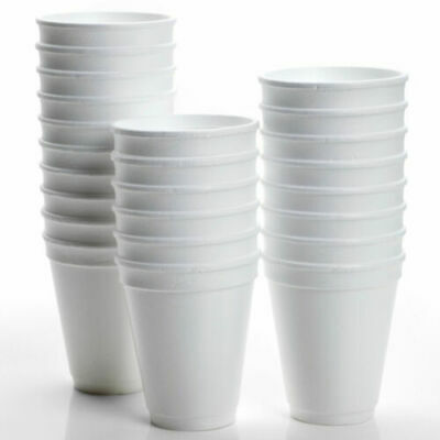 £13.45 • Buy 200 X Disposable Foam Cups Polystyrene Coffee Tea Cups For Hot Drinks 10oz