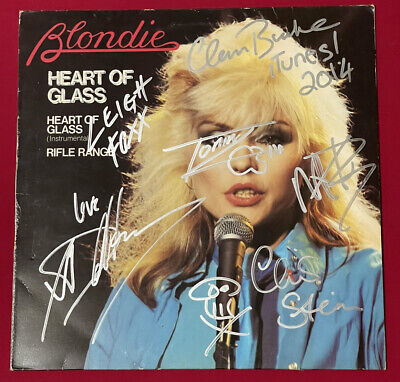 "AU34.26 • Buy Blondie: Heart Of Glass 12"" Signed By Debbie Harry & The Band - ITunes 2014 Rare"