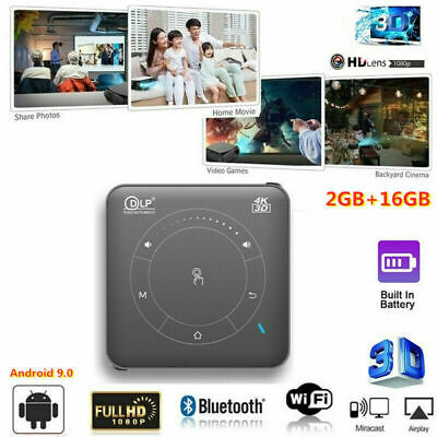 £178.99 • Buy 2021 NEW Android 9.0 DLP HD 1080P Home Cinema Projector 3D WIFI Wireless HDMI SD