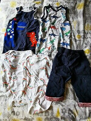 Baby Boy 6-9 Month Bundle Dinosaurs Rainbows Jojo Maman Bebe And Blue Zoo • 1.30£