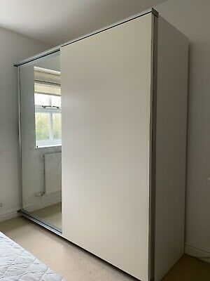 IKEA  Pax  Double Wardrobe With Sliding Doors. Good Condition • 60£