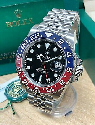$ CDN29634.52 • Buy Rolex GMT Master II 126710BLRO Pepsi 40mm Black Dial 2021 UNWORN