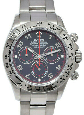 $ CDN49166.57 • Buy  Rolex Daytona Chronograph 18k White Gold Black Dial Watch Box & Card V 116509