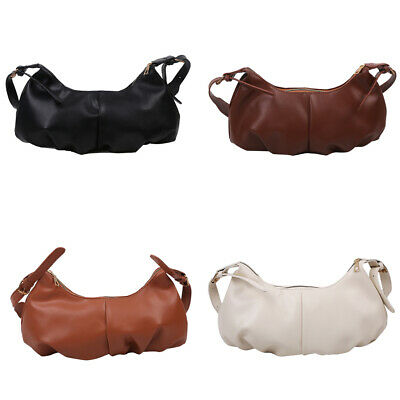 $ CDN16.60 • Buy Retro Pleated Messenger Bag Women Leather Shoulder Cloud Handbags Clutches $S1