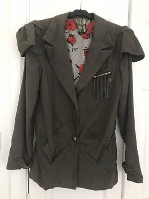Ringspun Ladies Fitted Jacket Military Size 3 • 2.50£