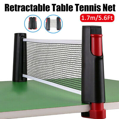 AU19.86 • Buy Table Tennis Net Rack Portable Retractable Replacement Ping Pong Kit Sports
