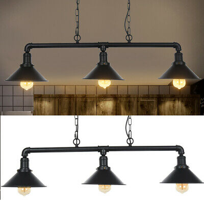 Pendant Lamp Ceiling 3 Lights Adjustable Hanging Cord Metal Shade Dining UK • 36.88£