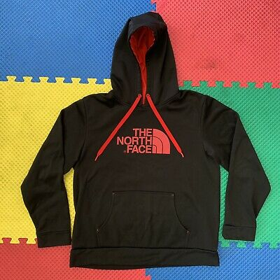 $ CDN37.84 • Buy The North Face Black Red Long Sleeve Logo Graphic Pullover Hoodie Mens Large