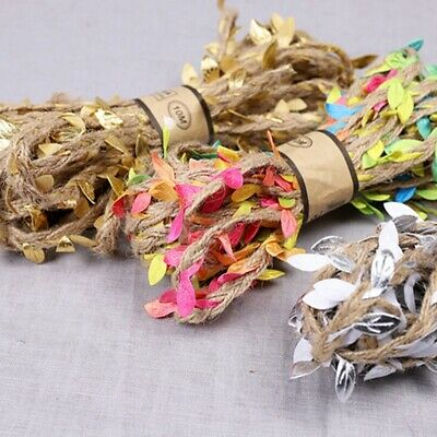 Jute Rope Twine Burlap Leaf Ribbon For DIY Home Garden Craft Decor FA • 3.34£
