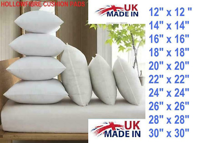 £1.65 • Buy Hollowfibre Cushion Pads Inserts Inners Fillers 14  16  18  20  All Sizes