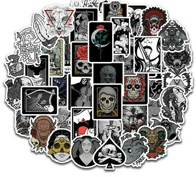 £2.79 • Buy 20 Unusual Gothic / Skull Mixed Colour  Stickers Laptop / Walls / PC'S