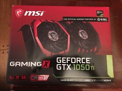 $ CDN397.14 • Buy MSI NVIDIA GeForce GTX 1050 TI GAMING X 4GB Graphics Card