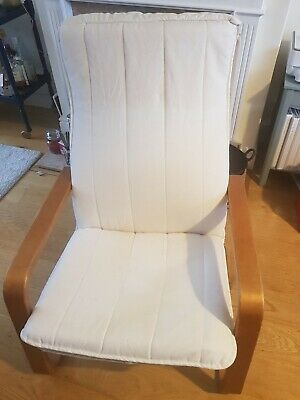 Ikea Poang Chair With Cream Cover  • 10£