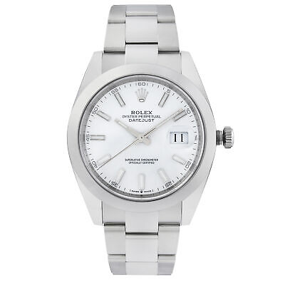 $ CDN12498.48 • Buy Rolex Datejust 41 Steel Oyster Band White Dial Automatic Mens Watch 126300