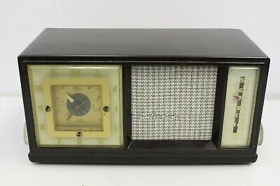 $ CDN26.63 • Buy Vintage Silvertone Simpsons Sears Bakelite Radio Clock Radio Model C817-3160