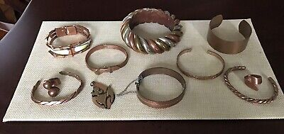 $ CDN39.99 • Buy Vintage Copper Jewelry Lot Matisse Renoir Whiting & Davis Bracelets & Rings
