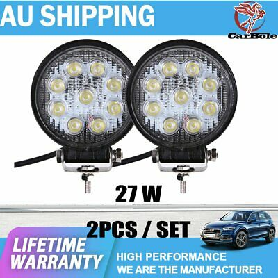 AU30.99 • Buy Pair 5Inch 27W LED Work Fog Lamps Spot Offroad 4WD Fog ATV SUV Driving Light DRL