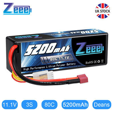 £34.99 • Buy Zeee 5200mAh 11.1V 3S 80C RC LiPo Battery Deans For RC Car Truck Helicopter Boat