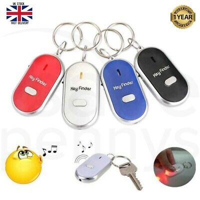 £3.99 • Buy Whistle Key Finder Anti Lost Remote Chain Locator LED Flashing Beeping Keyring