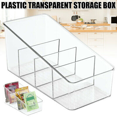 AU22.25 • Buy Plastic Food Packet Organizer Office Desk Letters Stationery Sorting Storage Box