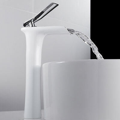 £44.95 • Buy Bathroom Waterfall Taps Basin Mixer Taps Tall Counter Top Brass Faucets、
