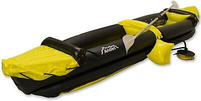 AU209.15 • Buy 2 Person Inflatable Boat Kayak Canoe With Paddle Water Sports Board Yellow New