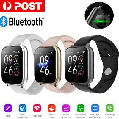 AU12.20 • Buy Smart Watch Bluetooth Heart Rate Blood Pressure Waterproof For IOS Android