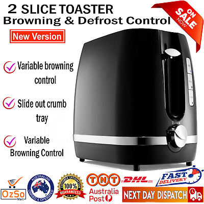 AU23.45 • Buy Toaster 2-Slice Electric Automatic Crumb Tray Defrost Reheat Variable Browning