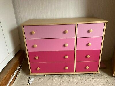 Set Of Girls Bedroom Furniture, Bed, Desk, Chest Of Drawers And Wardrobe (IKEA?) • 150£