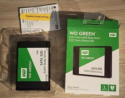 WD Green 1TB 2.5  SSD 1TB Capacity SATA III Interface Mint Boxed Condition • 80£