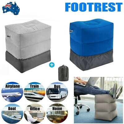AU17.99 • Buy Inflatable Foot Rest Travel Air Pillow Cushion Office Home Leg Footrest Kids Bed
