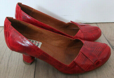 £68.28 • Buy Harlot Beautiful Leather Pumps Shoes Size 37 Top Red