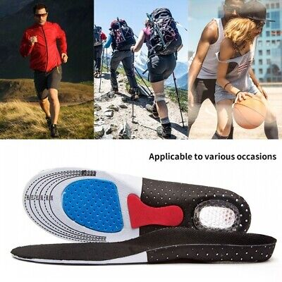 Men/Lady Gel Orthotic Insoles Insert Sports Shoe Pad Arch Support Cushion UK • 6.26£