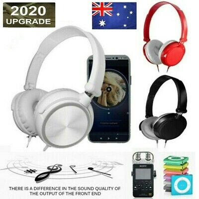 AU12.82 • Buy New HD Sound Wired Headphones Over Ear Headsets Bass HiFi Sound Music Stereo Ear