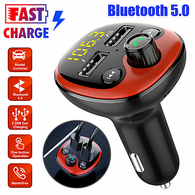 £7.99 • Buy Wireless Bluetooth Car MP3 Player FM Transmitter Phone USB Charger Handsfree Kit