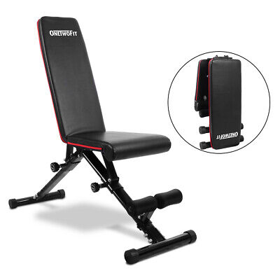 Adjustable Folding Weight Bench Dumbbell Exercise Fitness Sit Up Incline Chest • 89.89£