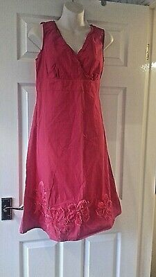 John Rocha/debenhams Red Cotton Dress-size 14 • 3.99£