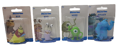Set Of 4 - Disney Monsters Inc Mini Figure Cake Toppers -  Sulley Mike Roz Boo  • 10.13£