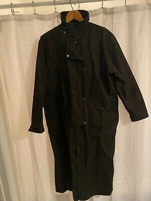 $46.79 • Buy VTG Saddlesmith Outfitters By Action Brown Thick Cotton Duster Ranch Coat Size L