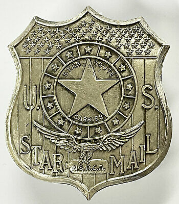 $265 • Buy US Star Route Carrier Mail Badge MINT In Original Envelope